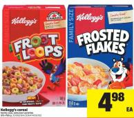 Kellogg's Cereal Family Size - 515-765 g
