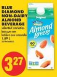 Blue Diamond Non-dairy Almond Beverage - 1.89 L