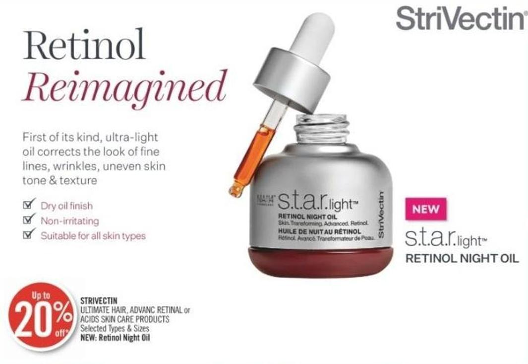 Strivectin Ultimate Hair - Advanc Retinal or Acids Skin Care Products