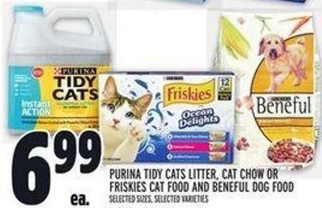 Purina Tidy Cats Litter - Cat Chow Or Friskies Cat Food And Beneful Dog Food
