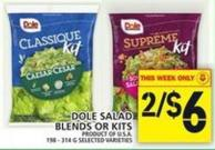 Dole Salad Blends Or Kits