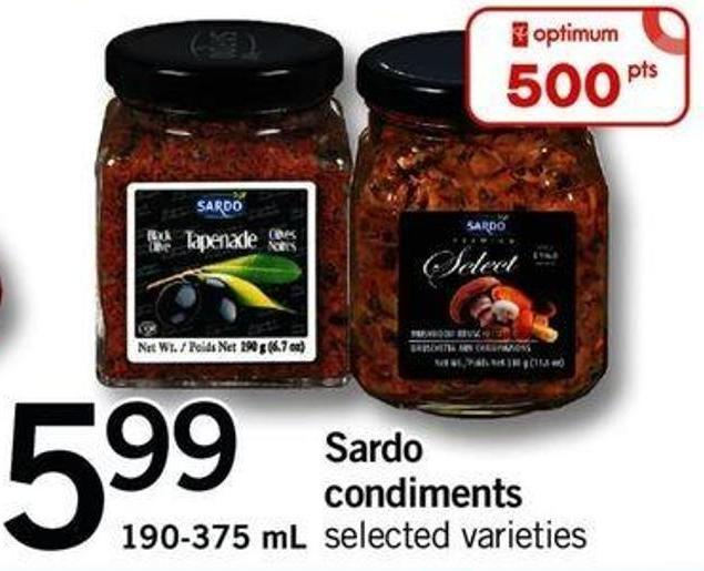 Sardo Condiments - 190-375 Ml