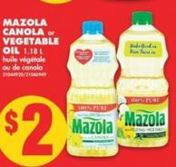 Mazola Canola Or Vegetable Oil - 1.18 L
