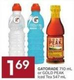 Gatorade 710 mL or Gold Peak Iced Tea 547 mL