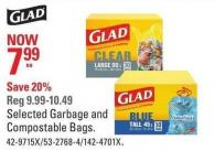 Glad Selected Garbage and Compostable Bags