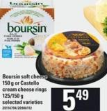 Boursin Soft Cheese - 150 G Or Castello Cream Cheese Rings - 125/150 G