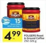 Folgers Roast & Ground Coffee - 15 Air Miles Bonus Miles