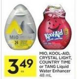 Mio - Kool-aid - Crystal Light - Country Time or Tang Liquid Water Enhancer 48 mL