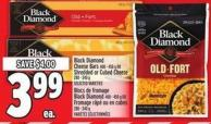 Black Diamond Cheese Bars 400 - 450 g or Shredded Or Cubed Cheese 280 - 340 g