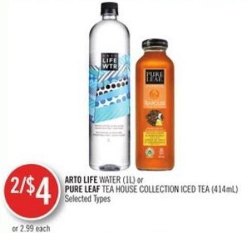 Arto Life Water (1l) or Pure Leaf Tea House Collection Iced Tea (414ml)