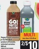 Happy Planet Smoothie Or Go Nut Milk - 900 mL