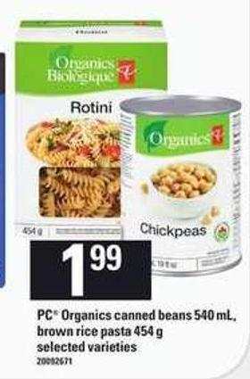 PC Organics Canned Beans 540 Ml - Brown Rice Pasta - 454 G
