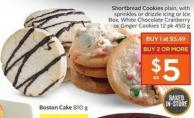 Shortbread Cookies Plain - With Sprinkles or Drizzle Icing or Ice Box - White Chocolate Cranberry or Ginger Cookies 12 Pk 450 g