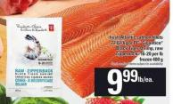 Fresh Atlantic Salmon Fillets - 22.02/kg Or PC Gigantico Black Tiger Shrimp - Raw Zipperback - 16-20 Per Lb - 400 g