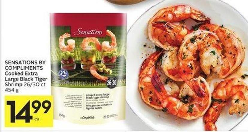 Sensations By Compliments Cooked Extra Large Black Tiger Shrimp