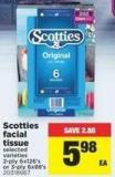 Scotties Facial Tissue - 2-ply 6x126's or 3-ply 6x88's