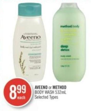 Aveeno or Method Body Wash 532ml