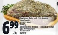 New Zealand Spring Lamb Fresh Boneless Lamb Shoulder Butterflied Or Roast