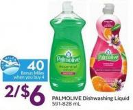 Palmolive Dishwashing Liquid  591-828 mL - 40 Air Miles Bonus Miles