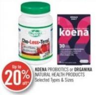 Koena Probiotics or Organika Natural Health Products