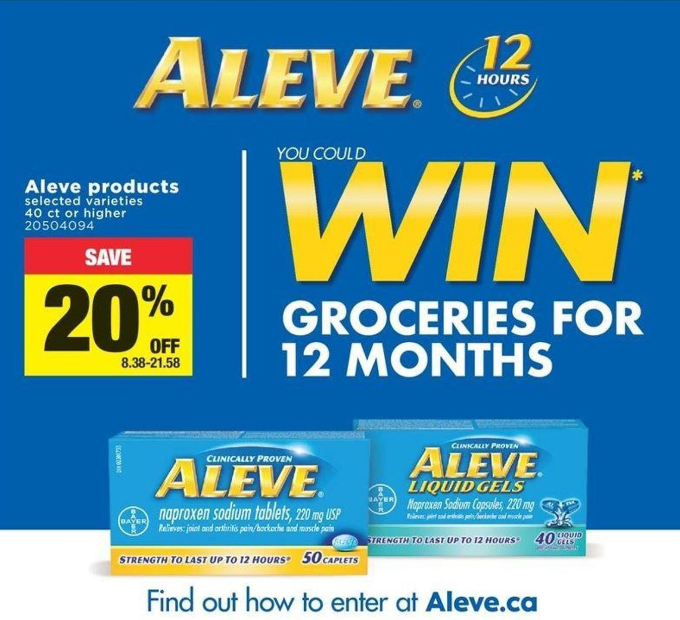 Aleve Products - 40 Ct Or Higher