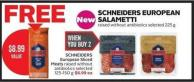 Schneiders European Sliced Meats Raised Without Antibiotics Selected 125-150 g