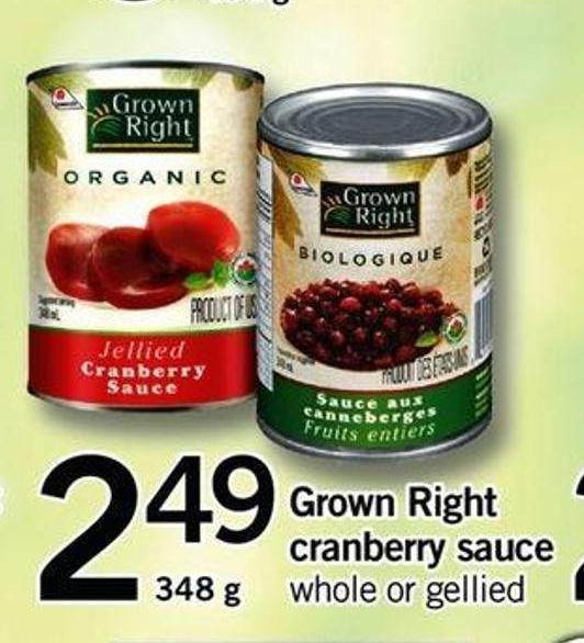 Grown Right Cranberry Sauce - 348 G