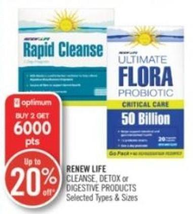 Renew Life Cleanse - Detox or Digestive Products