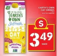 Earth's Own Oat Drinks