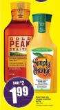 Simply Orange Juice - Lemonade or Gold Peak Iced Tea
