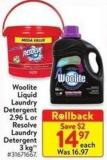Woolite Liquid Laundry Detergent 2.96 L or Resolve Laundry Detergent 3 Kg