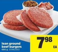 Lean Ground Beef Burgers - 680 G