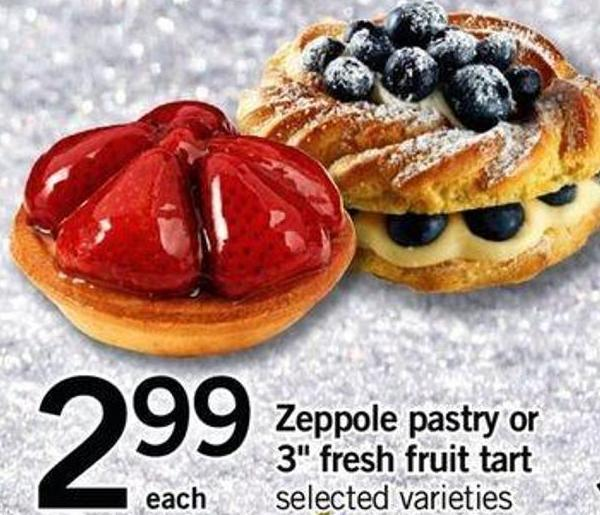 Zeppole Pastry Or 3in Fresh Fruit Tart