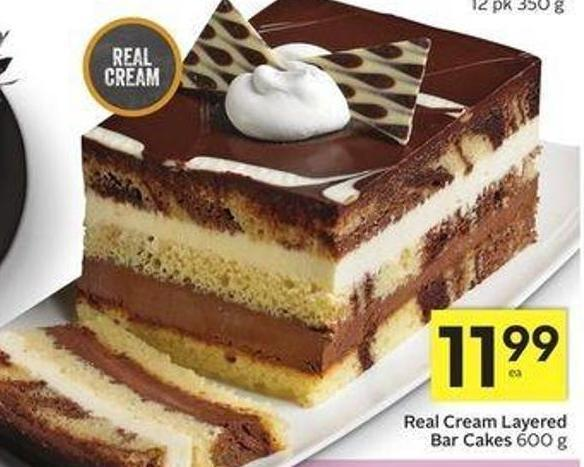 Real Cream Layered Bar Cakes