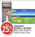 Hydrasense - Drixoral  or Netirinse Nasal Care Products