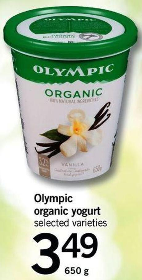 Olympic Organic Yogurt - 650 g