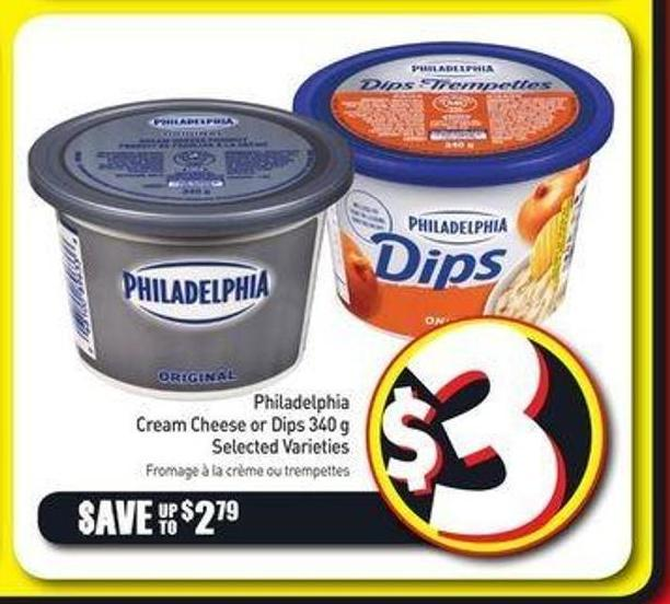 Philadelphia Cream Cheese or Dips 340 g