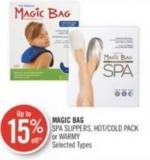 Magic Bag Spa Slippers - Hot/cold Pack or Warmy