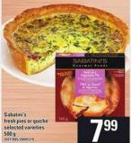 Sabatini's Fresh Pies Or Quiche - 500 G