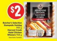 Butcher's Selection Stampede Hotdog 900 g Harvest Creek Halal Chicken Wieners 908 g