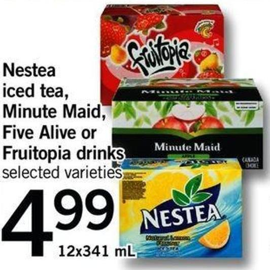 Nestea Iced Tea - Minute Maid - Five Alive Or Fruitopia Drinks - 12x341 Ml