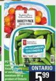PC Mini Cucumbers - 680 g - Axiany Cherry Or Variety Pack Tomatoes - 681 g