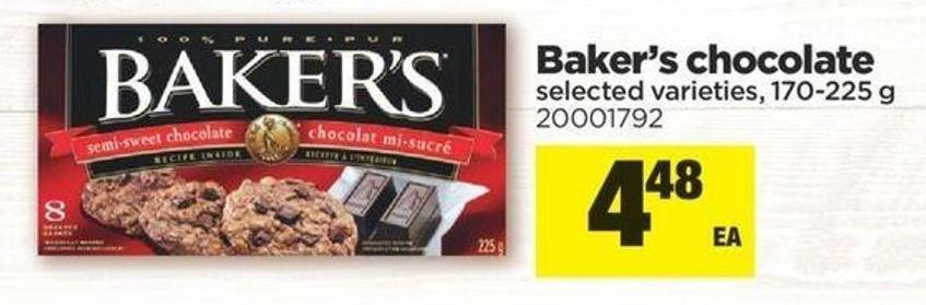 Baker's Chocolate - 170/225 g