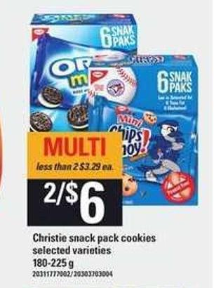 Christie Snack Pack Cookies - 180/225 g