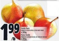 Forelle Pears Product of South Africa Extra Fancy Grade