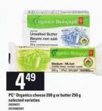 PC Organics Cheese - 200 g Or Butter - 250 g