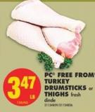 PC Free From Turkey Drumsticks or Thighs