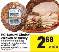 PC Natural Choice Chicken Or Turkey