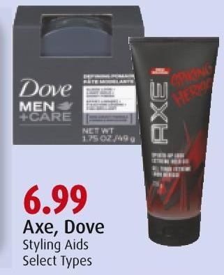 Axe - Dove Styling Aids