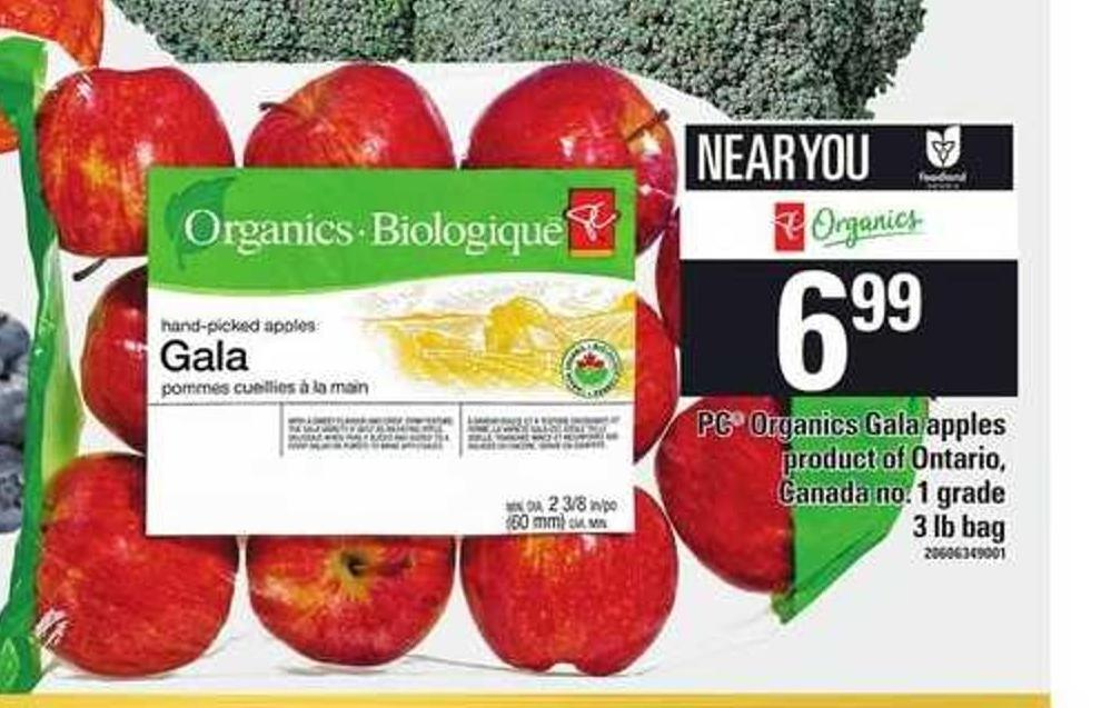 PC Organics Gala Apples - 3 Lb Bag